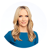 Dana Perino headshot wearing a blur top